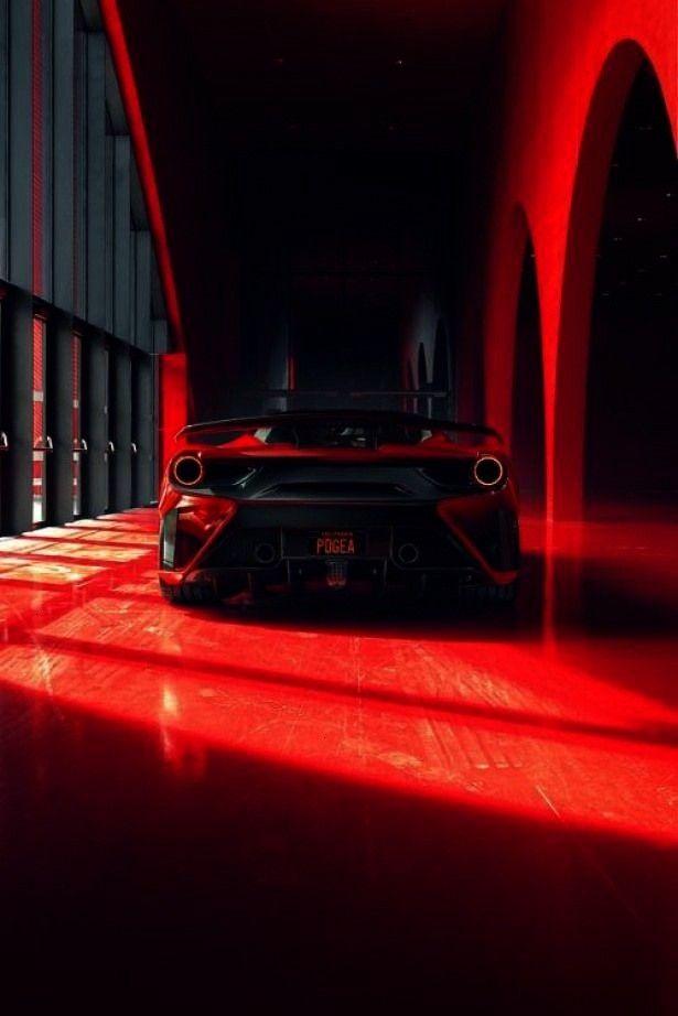 dégagée par une voiture par l'effet de lumière et de couleurLa puissance dégagée par une voitu