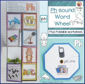 Ph Word Wheel With A Foldable Worksheet Phonics Word Wheel Words Phonics Blends