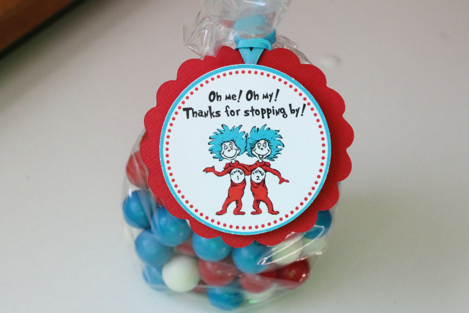 Thing 1 Amp Thing 2 Twin Baby Shower Party Favor Idea