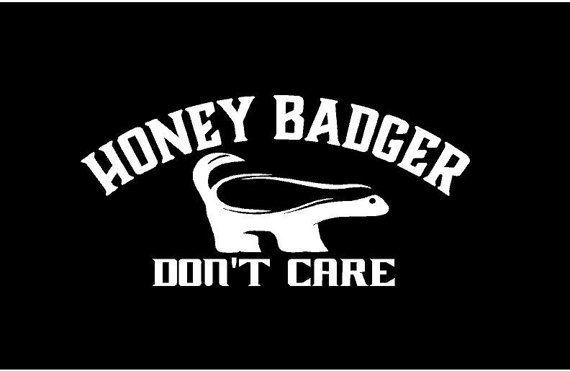 honey badger don t care decal car decal vinyl decal sticker custom