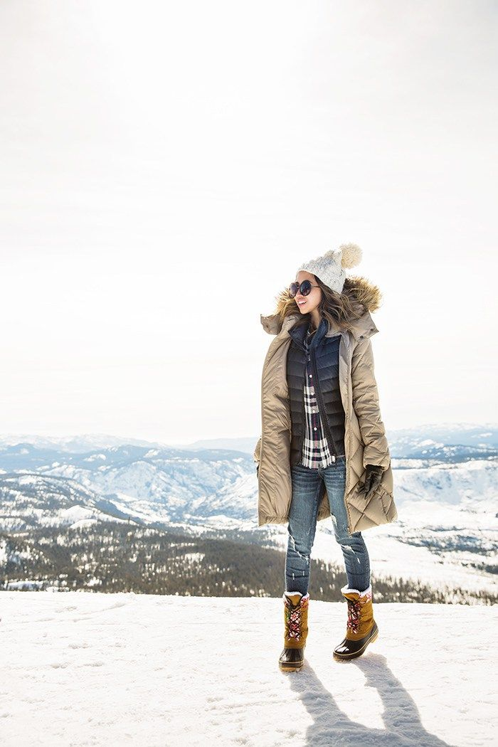2563692514e4e3 petite fashion blog, lace and locks, los angeles fashion blogger, cute  winter outfit, plaid shirt, down vest, cute parka for women, snow outfit  for women, ...