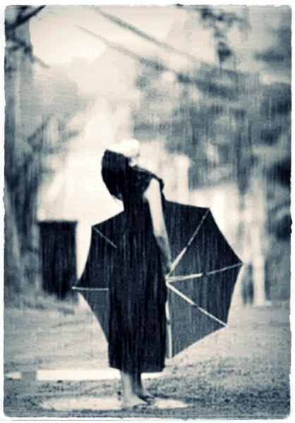 Kiss the rain..Do you hear the rain? It's pouring down...& cold.