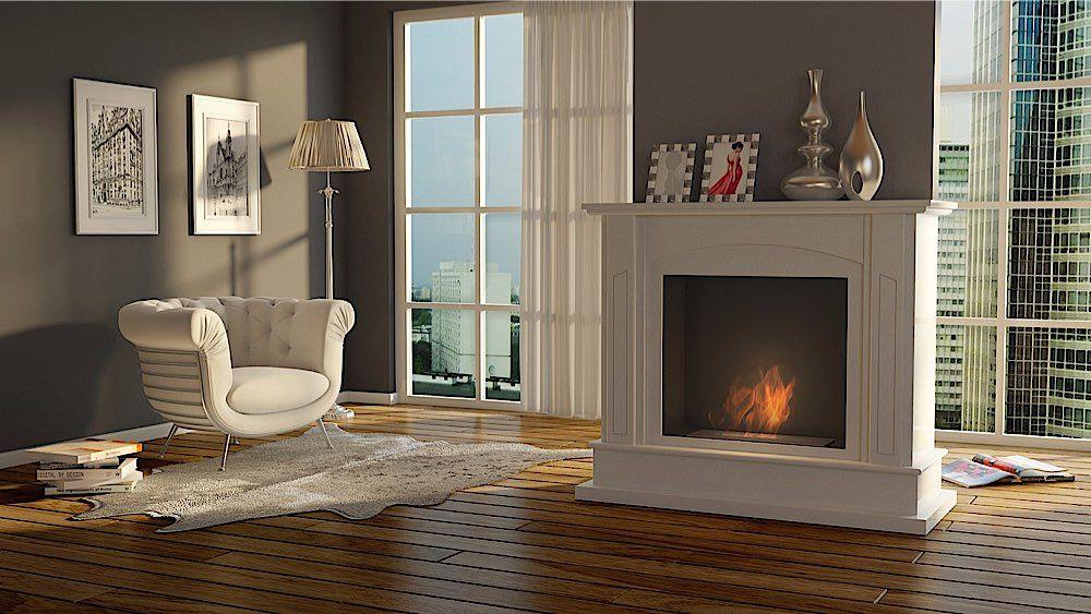 Kaminofen Wohnzimmer ~ Unser wohnzimmer ethanol kamin magenta in schönem ambiente ist
