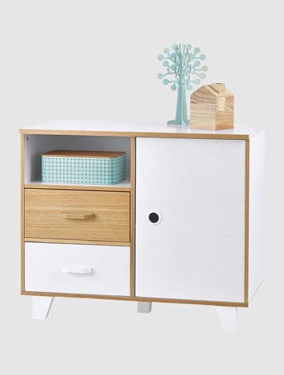 Kinderkommode Im Material Mix Weiss Natur Furniture Cabinet Home