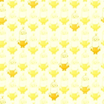 Cotton Fabric - Character Fabric - Minion Movie Kevin Tonal Blender White and Yellow