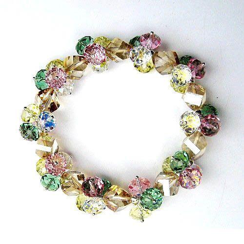 Dreamy Colorful Austrian Imported Crystal Bracelet Fashionable Bangle Style