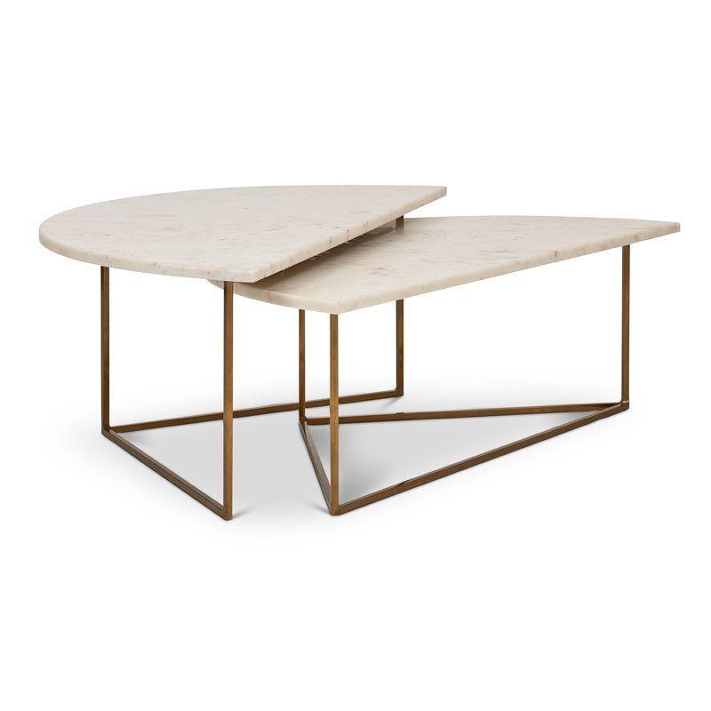 Best Dereham 2 Piece Coffee Table Set Iron Coffee Table 400 x 300