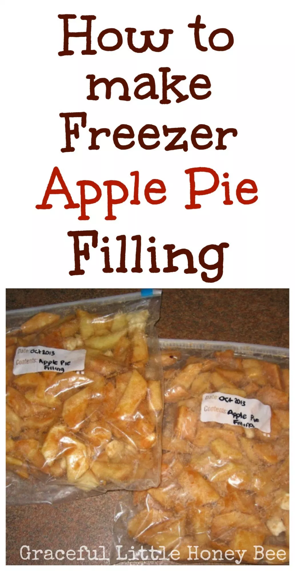 Freezer Apple Pie Filling + Video Tutorial #applepie
