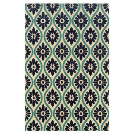 Heath Geometric Cobalt Blue Area Rug Pattern Design