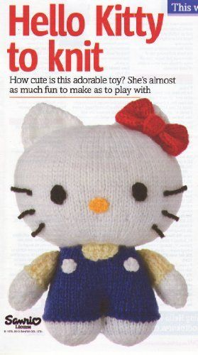 Hello Kitty Toy Knitting Pattern: Measurements 7\