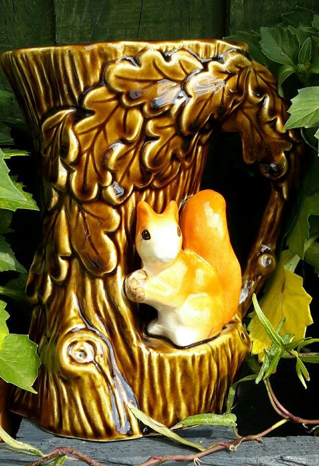 Sylvac squirrel vase