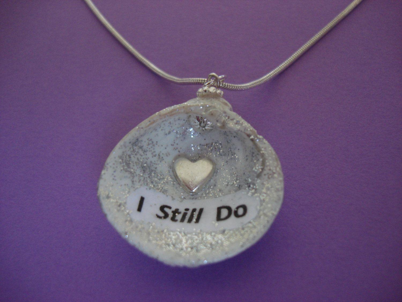 I Still Do - Seashell Handmade Necklace Wedding vow renewal Jewelry by NovelShell on Etsy