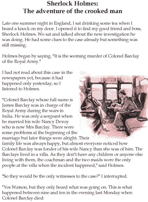 Grade 5 Reading Lesson 9 Mystery – Sherlock Holmes: The Adventure Of ...