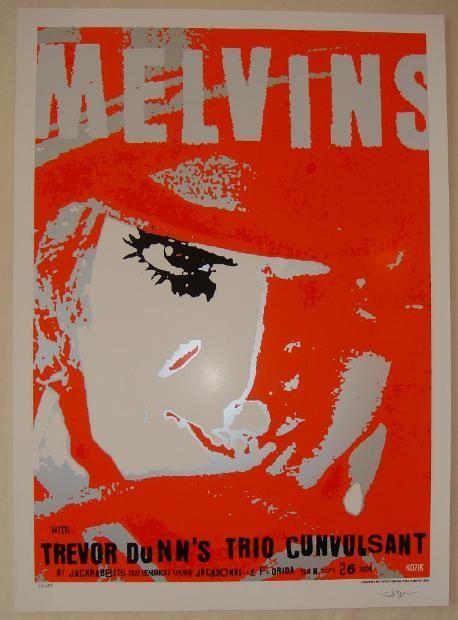Frank Kozik Melvins Rock Poster A Clockwork Orange