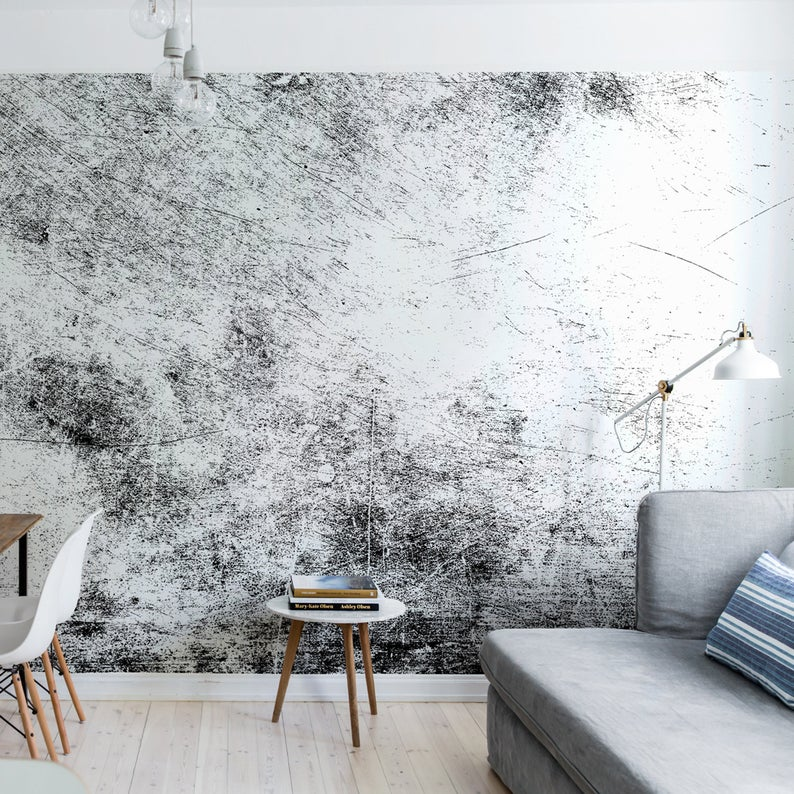 Dark Gray Grunge Wall Mural Peel And Stick Wallpaper Black And White Decor Old Cement Wall Decor Self Adhesive Removable Sticker Wall Murals Textured Walls Black And White Decor