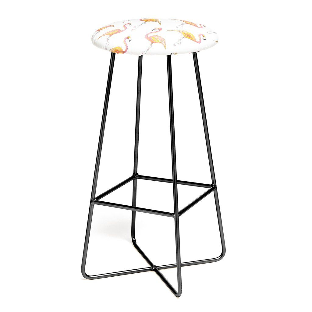 The Pink Flamingos Bar Stool Sophia Buddenhagen Bar Stools Pink