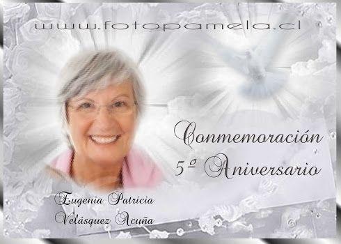 8 Tarjeta Fallecimiento Aniversario 8 Invitaciones De