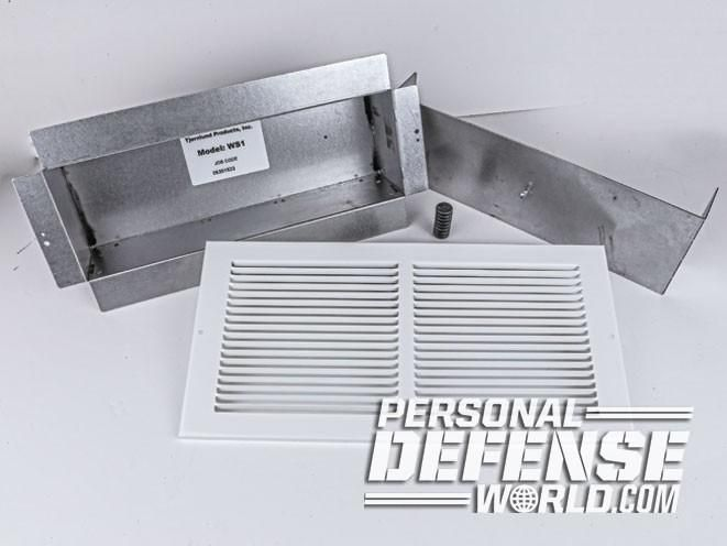 In Plain Sight Installing An Air Vent Wall Safe Wall Safe Home Security Tips Safe Room