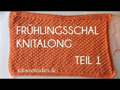 Photo of Frühlingsschal Knitalong Teil 1