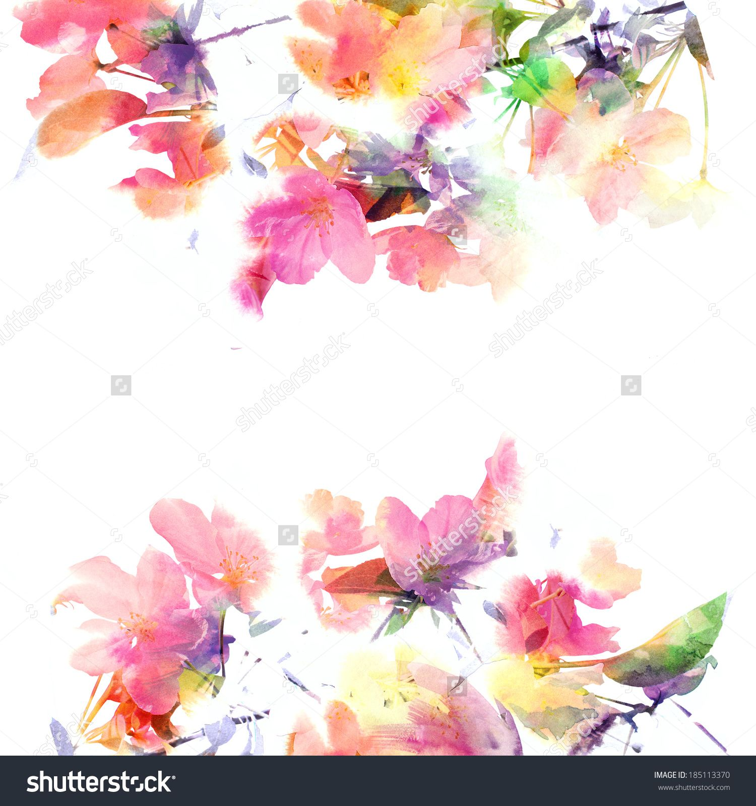 stock photo floral background watercolor floral bouquet birthday