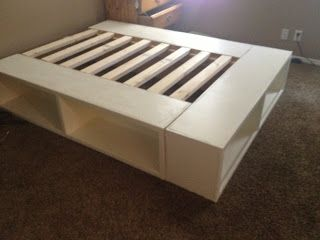 A Storage Bed I Built In Less Than A Week S Time I M Shocked At How Easy It Was And I M Excited For Another Diy Pro Diy Storage Bed Bedroom Diy Diy
