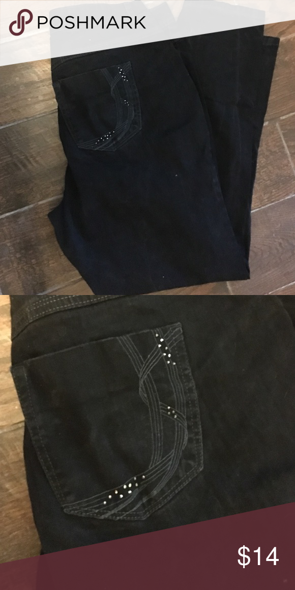 c2fed86f94d79 JMS Womens Black Jeans Size 18W JMS women plus size 18W average Black jeans  relaxed. Great looking. In good used condition. Waist 38 inches Length 30  inches ...