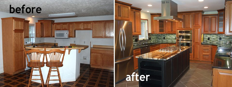 Kitchen remodels before and after model home kitchen1 for Kitchen remodel ideas before and after