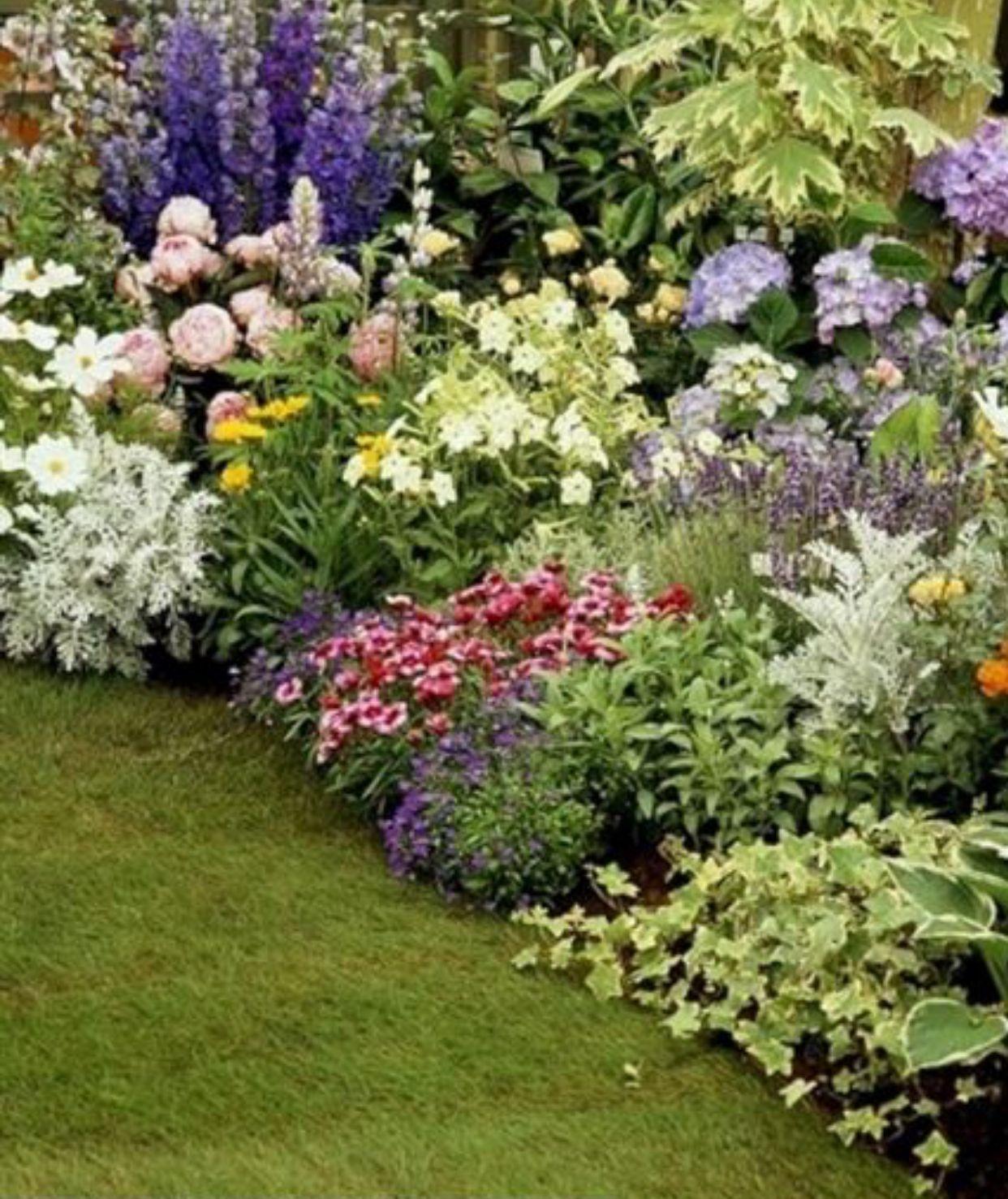 Beautiful The Perfect Perennial Flower Bed Hydrangea Landscaping Hosta Gardens Cottage Garden