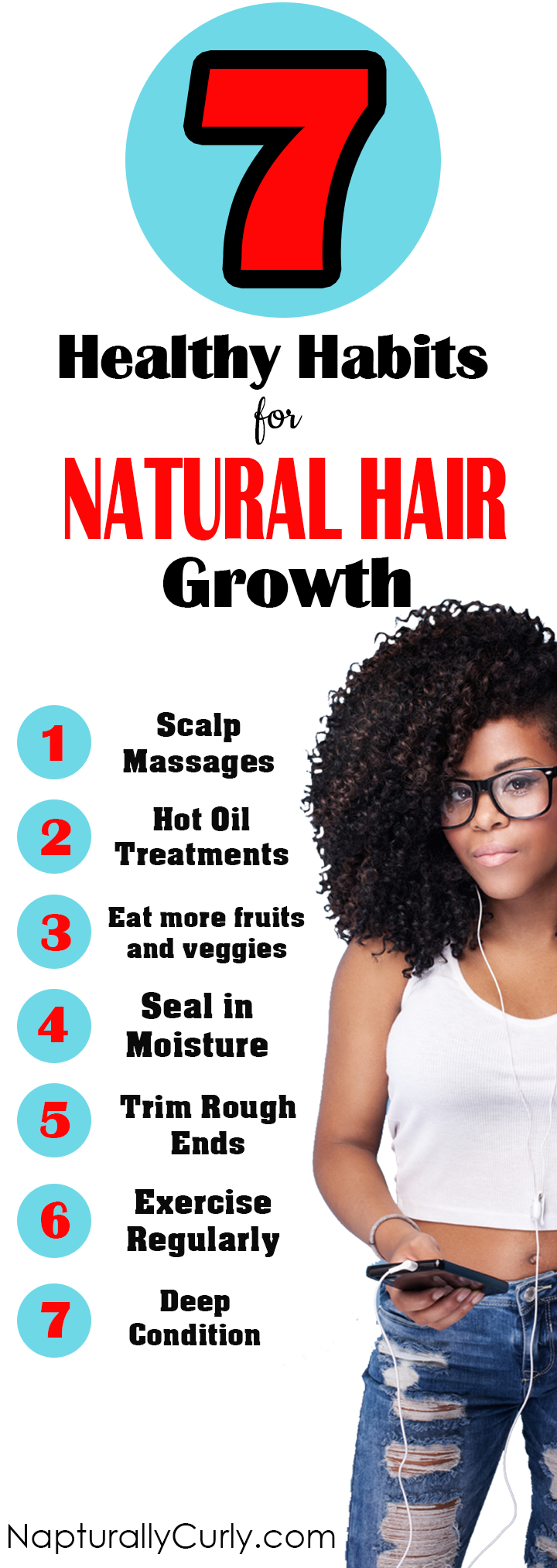 Great Habits To Grow Your Natural Hair Longer Natural Hair Care Tips Natural Hair Styles Natural Hair Care
