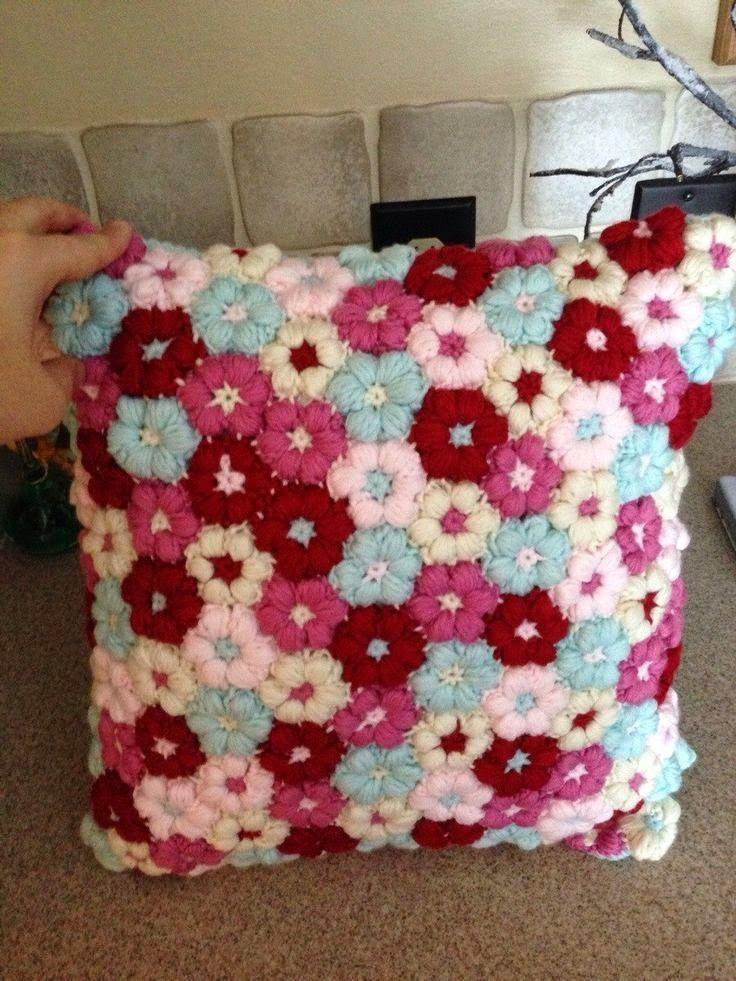 Almofada Flor De Croche Com Passo A Passo Almofadas De Croche