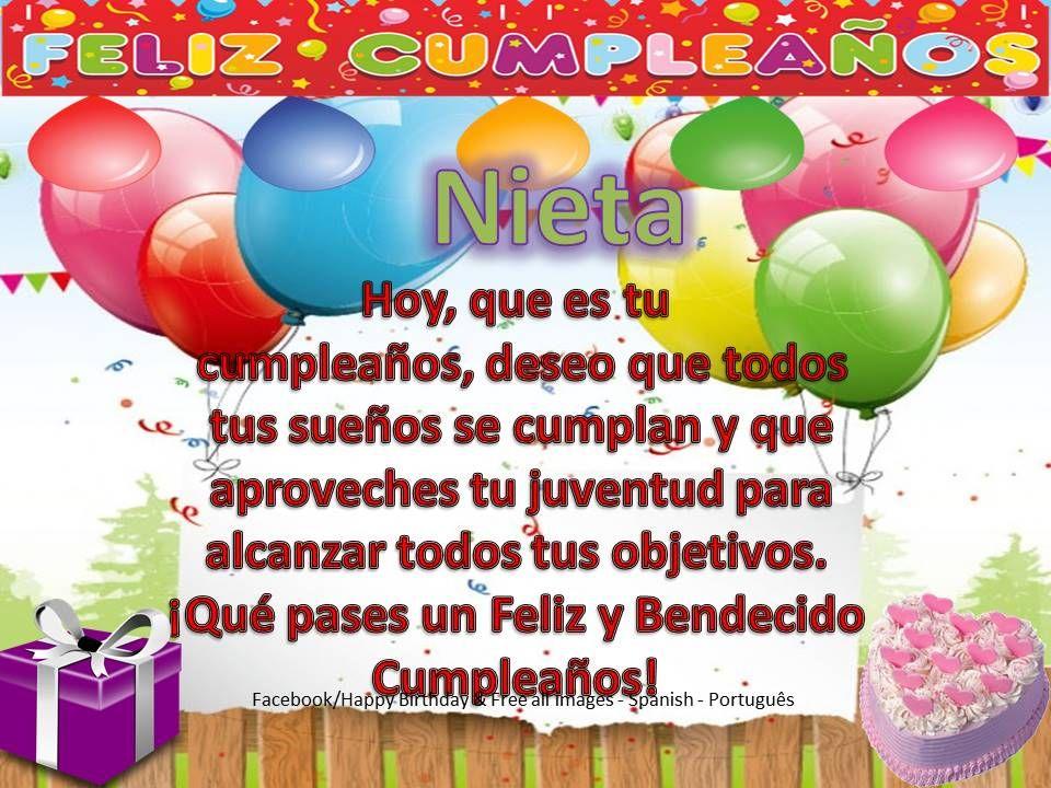 Nieta Iiiii Felíz Cumpleaños Iiiii Feliz Cumpleaños Nieto Feliz Cumpleaños Cuñado Feliz Y Bendecido Cumpleaños