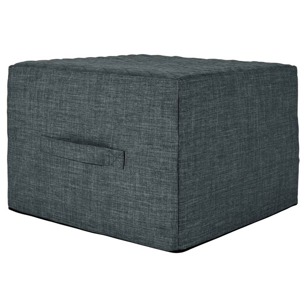 Buy Argos Home Prim Fabric Single Ottoman Bed Charcoal