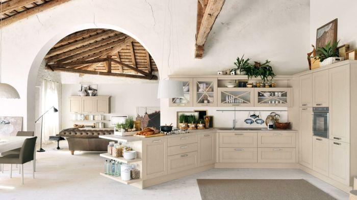 Cocinas modernas peque as cocina abierta hacia el sal n - Azulejos decorativos para salones ...