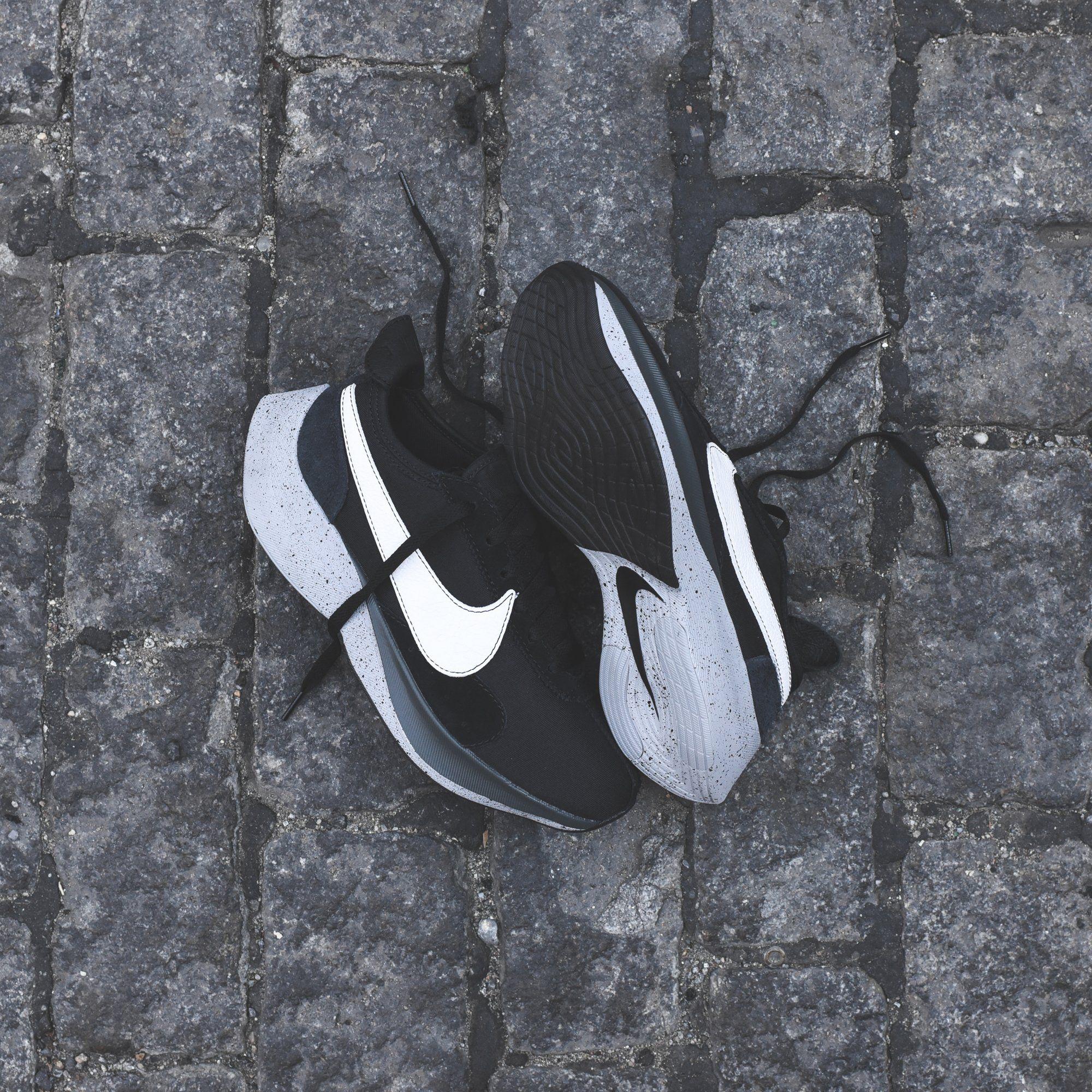 08a33eb84f68 Nike Moon Racer - Black   White   Wolf Grey   Dark Grey