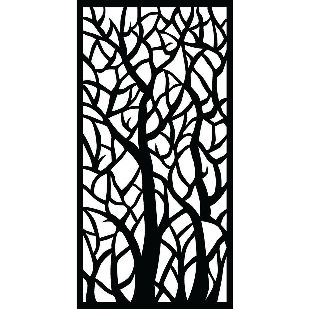 Matrix 0 3 In X 71 In X 2 95 Ft Woodland Recycled Plastic Charcoal Decorative Screen 3 Piece Per Bundle B Wo1809 Ch 3 The Home Depot Decorative Screen Panels Decorative Screens Woodland Decor