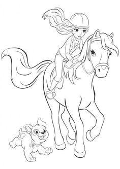 bibi und tina malvorlagen   ausmalbilder pferde