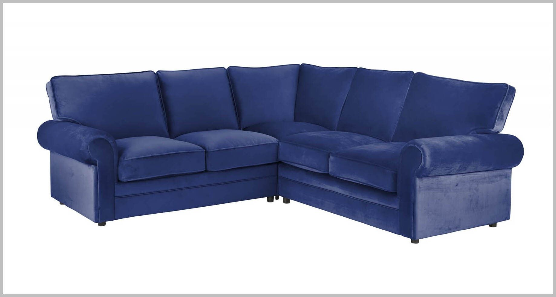 Navy Blue Corner Couch In 2020 Contemporary Home Office Furniture Blue Couch Living Room Blue Chesterfield Sofa
