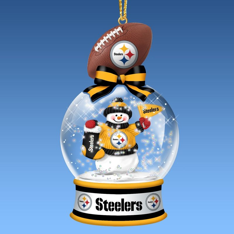 Pittsburgh Steelers Snow Globe Ornaments | Steelers for my son ...