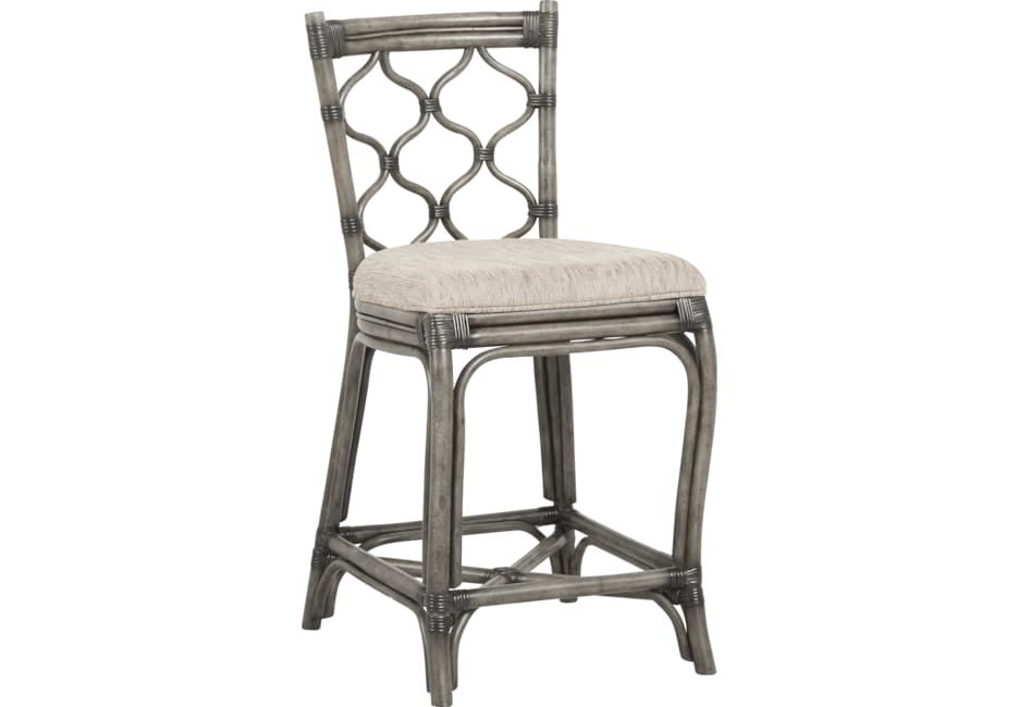 Cindy Crawford Home Shorecrest Gray Counter Height Stool Counter Height Stools Cindy Crawford Home Stool