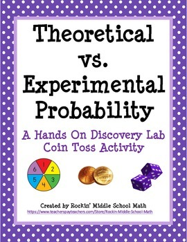 Theoretical Vs Experimental Probability Lab Includes Making