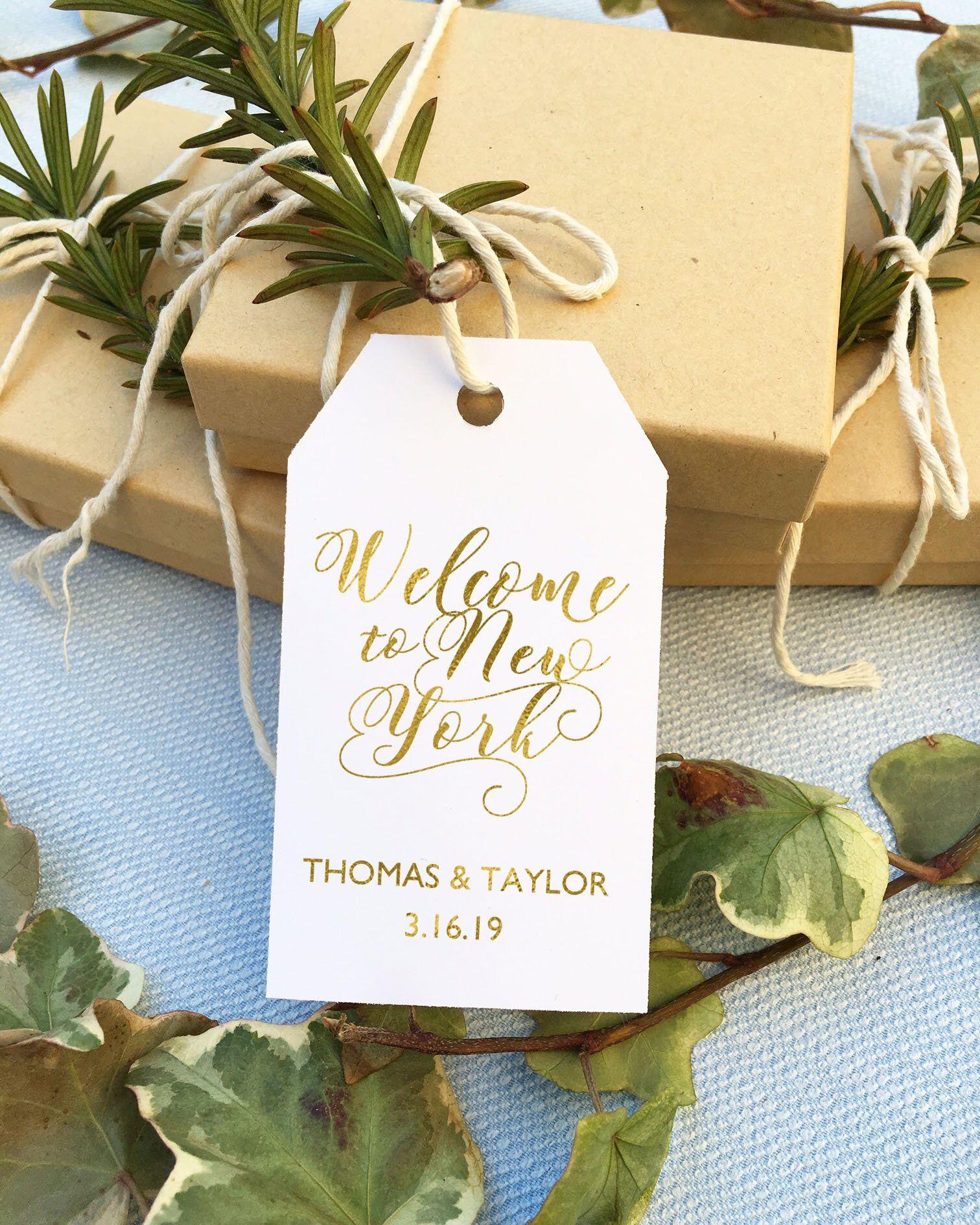Personalized gold foil gift tag /gold foil favor tag /gold foil ...