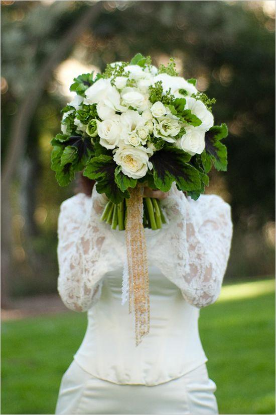Green Wedding Ideas Wedding White wedding bouquets and The white