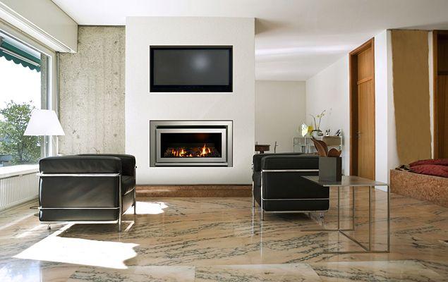 gas jet flat fireplace | ... series gas fireplace inset fascia ...
