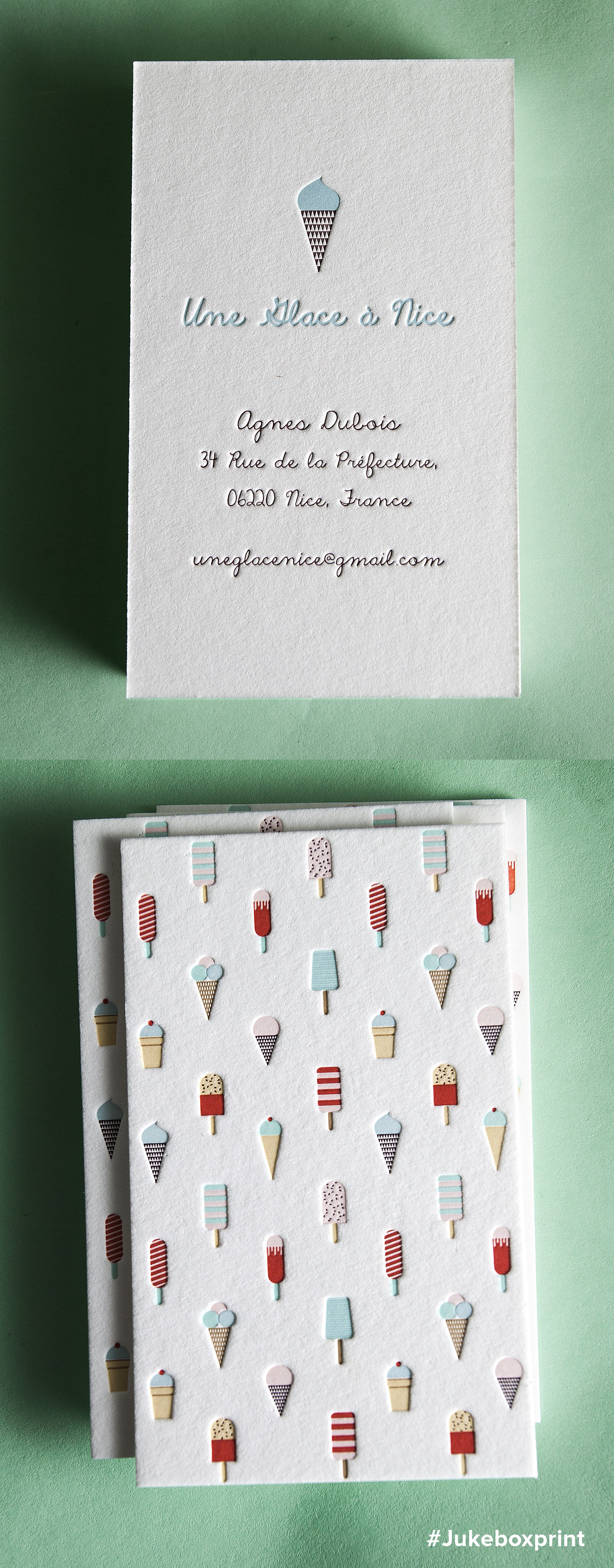 Cute Letterpress Business Cards Produced With Seven Colors