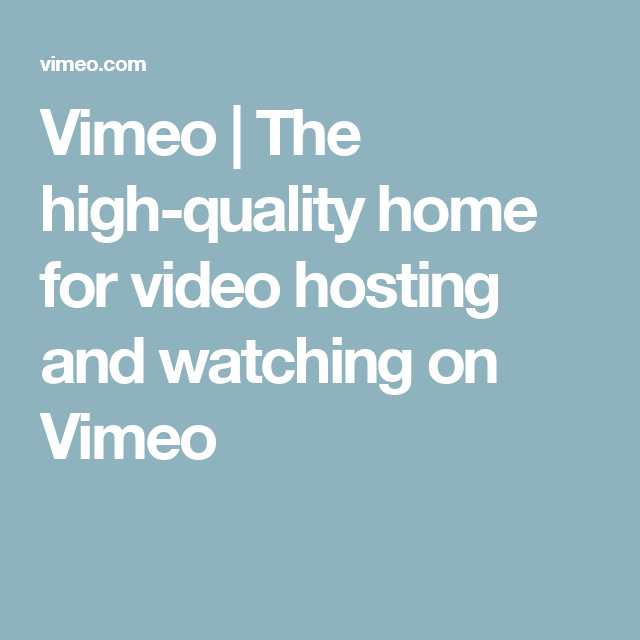 25++ Vimeo the high quality home for video hosting and watching viral