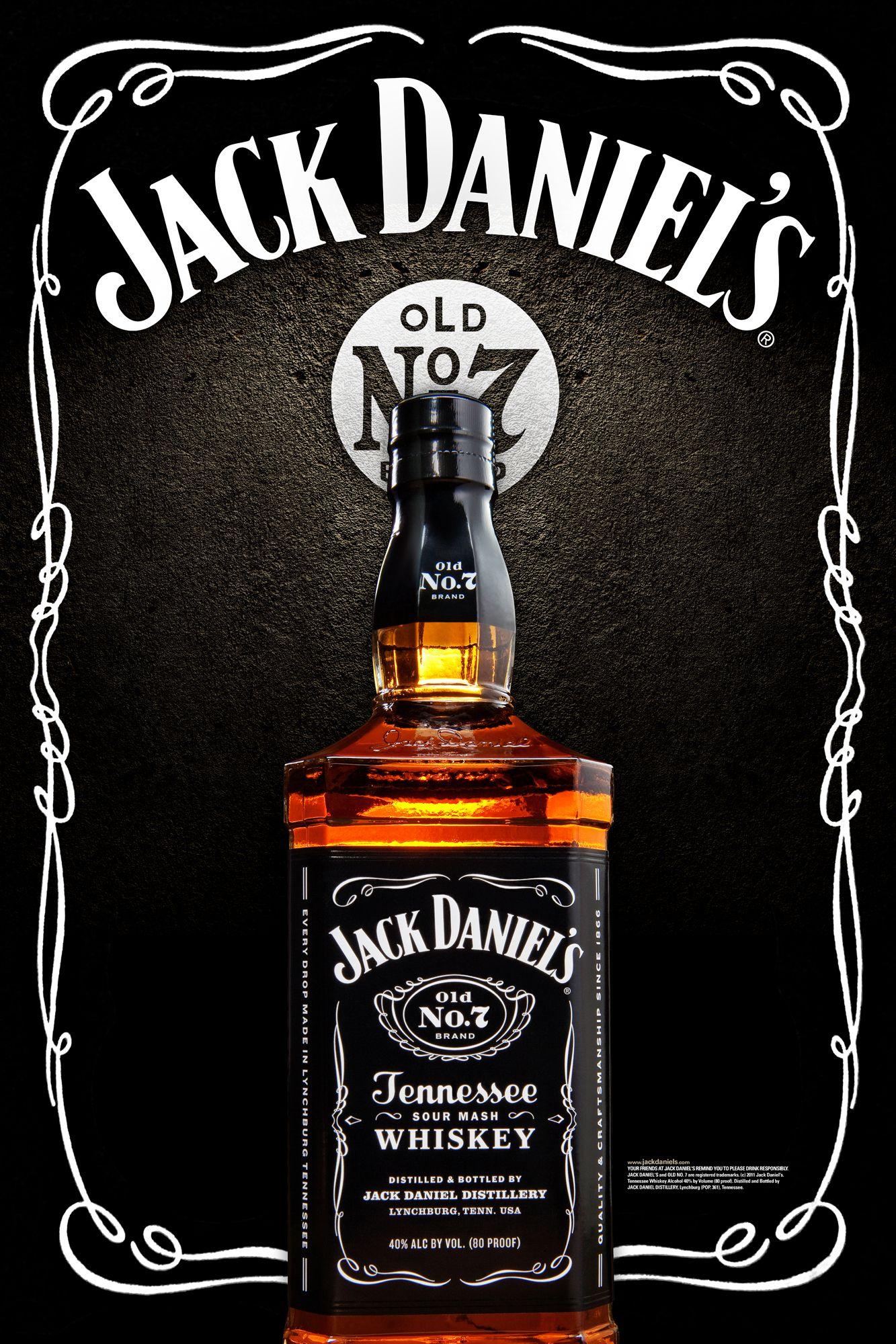 Jack Daniels Whiskey Ad Pôster de cerveja, Garrafa de