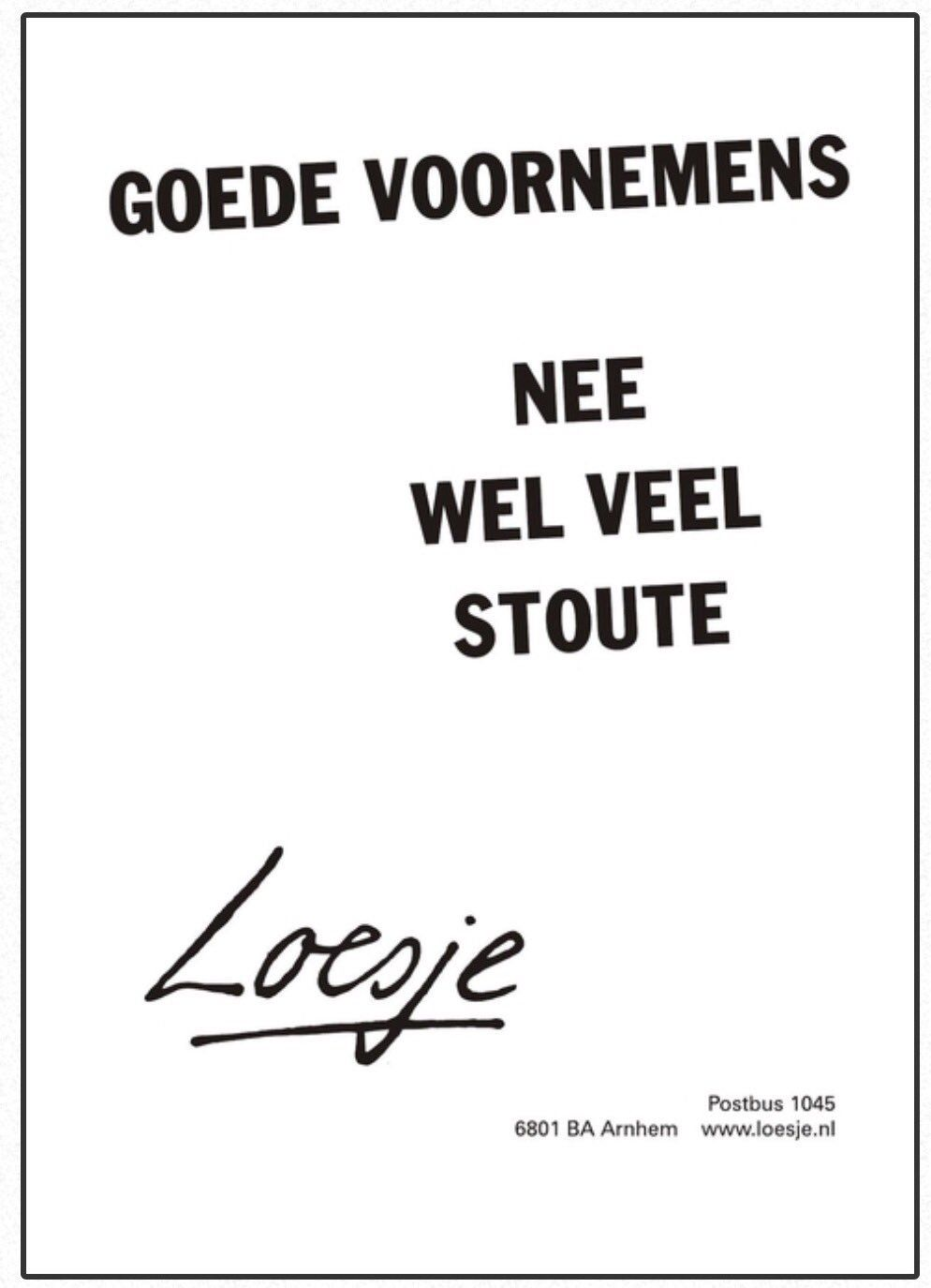 Loesje v/d Posters on Twitter Quotes about new year