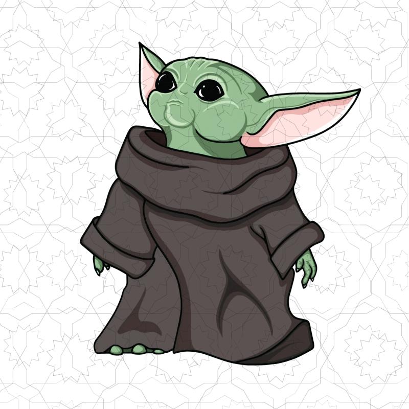 Baby Yoda Baby Yoda The Mandalorian Buy T Shirt Design Artwork Yoda Png Clip Art Star Wars Baby