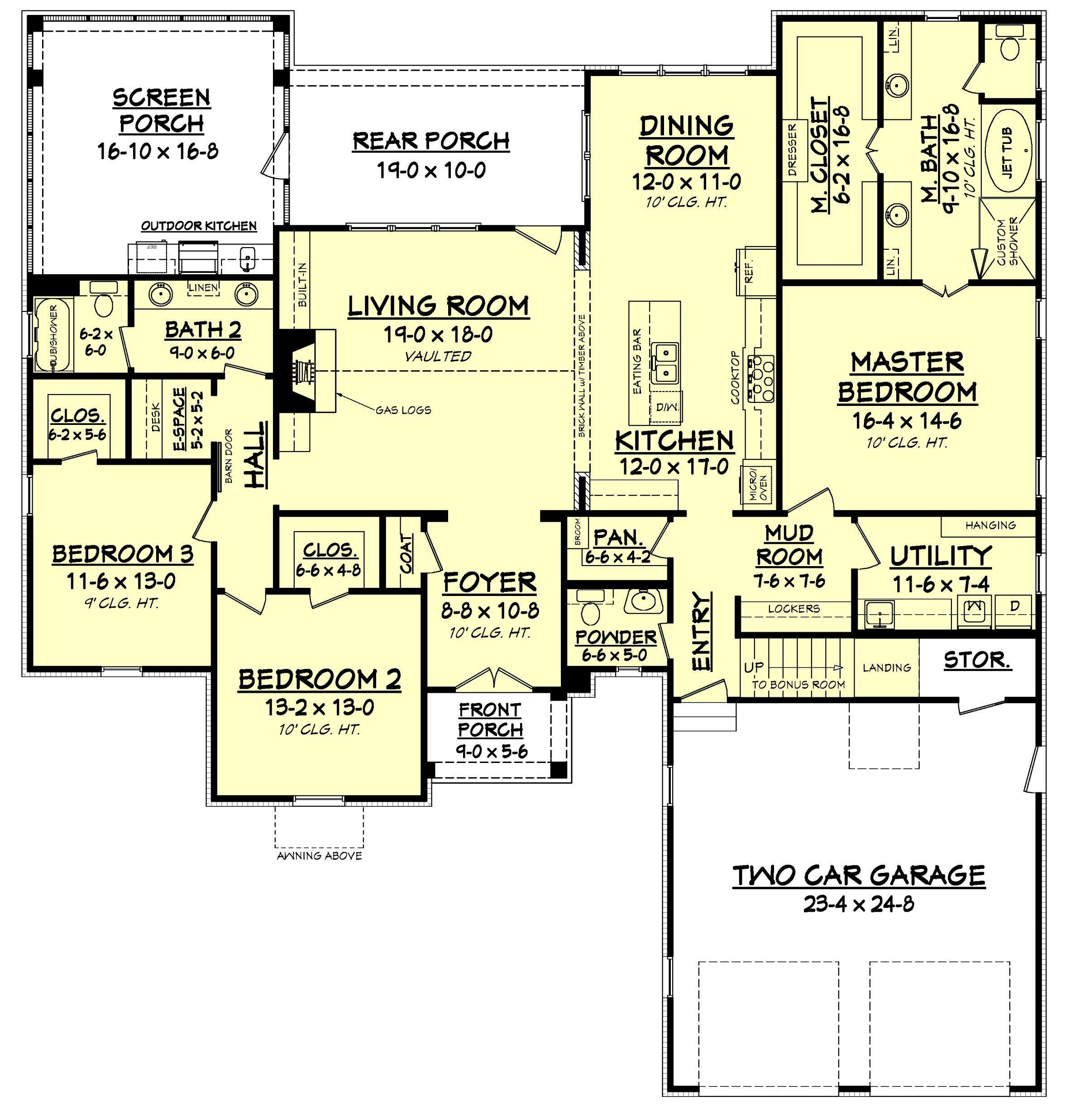 Augusta Court House Plan | Farmhouse design, Country farmhouse and ...