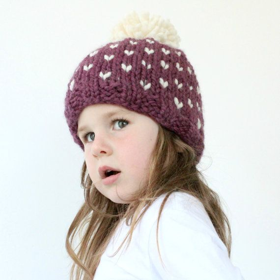 Chunky Knit Hat Pattern - PDF Knitting Pattern, Super Bulky Beanie ...